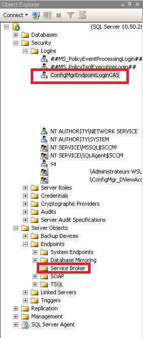 Service broker port 4022