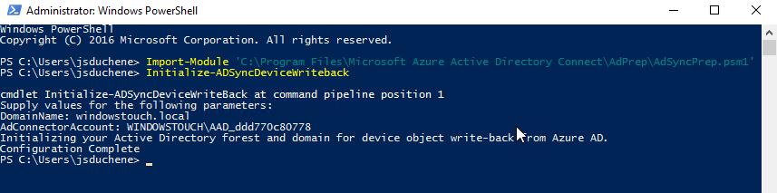 AD/Azure AD] Hybridation de l'identité avec Windows 10, iOS
